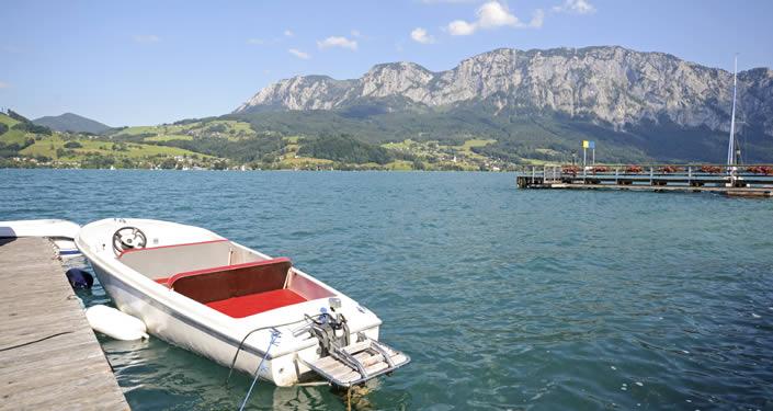 Attersee: grootste meer van Oostenrijk