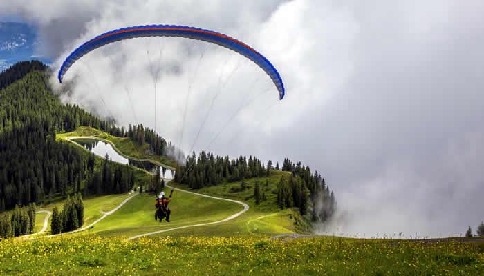 Tandemvlucht in het Zillertal
