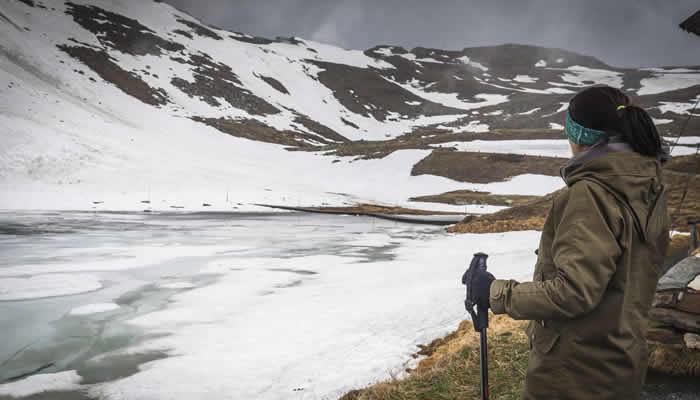 Wandelen in de eeuwige sneeuw bij het Pitztal
