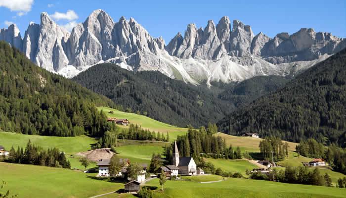 De dorpen van Val-Gardena (Gröden)