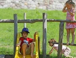 Met kinderen in Schenna
