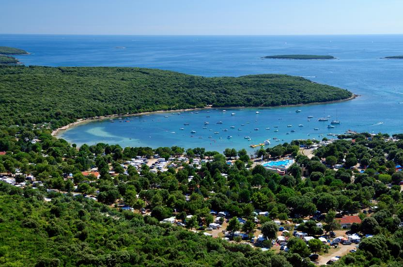 Camping Veštar bij Rovinj (Istrië)