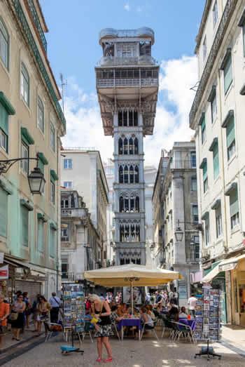 Elevado Santa Justa Lissabon