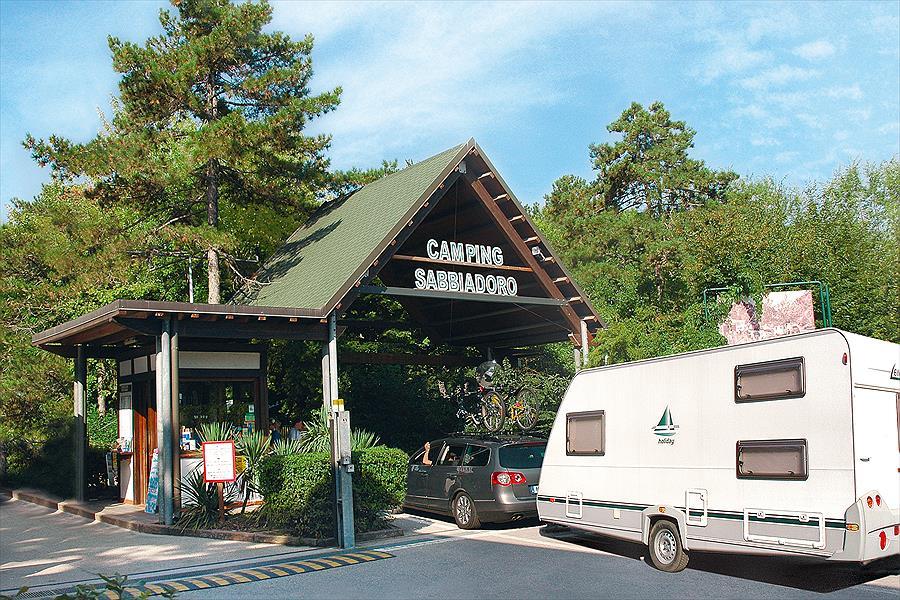 Camping Sabbiadoro bij Lignano Sabbiadoro (Udine)