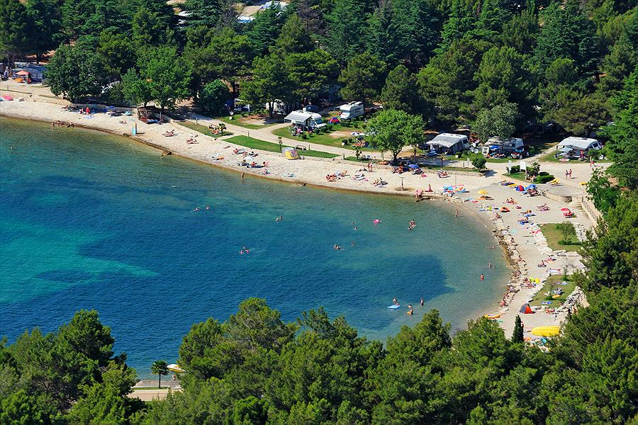 Camping Valkanela bij Funtana (Istrië)