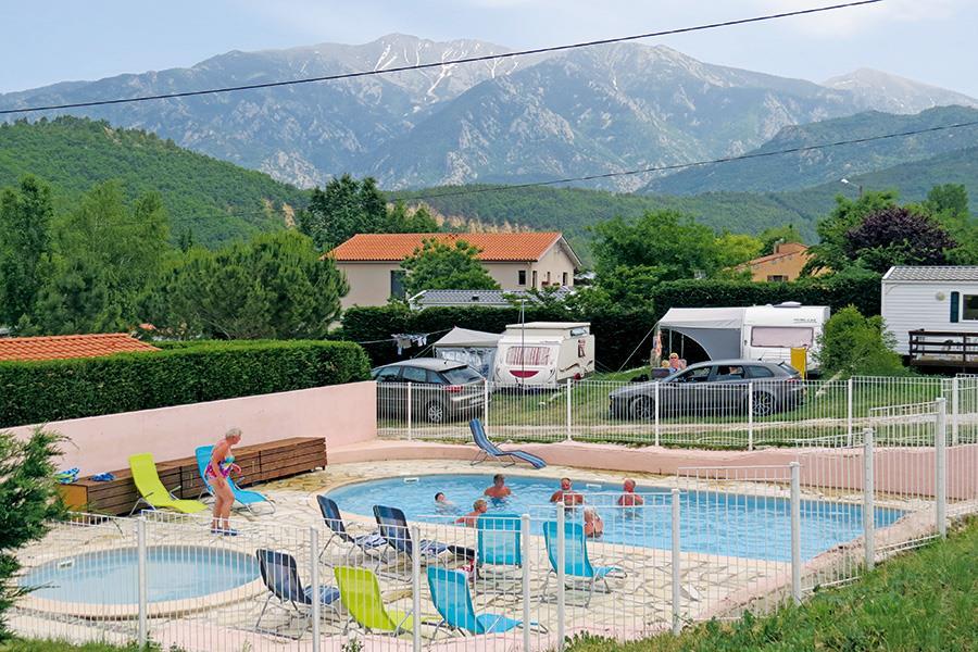 Camping Le Rotja bij Fuilla (Pyrénées-Orientales)
