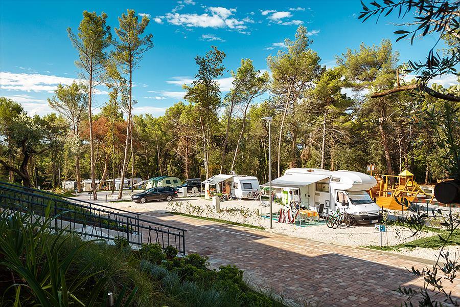 Camping Santa Marina bij Vabriga (Istrië)