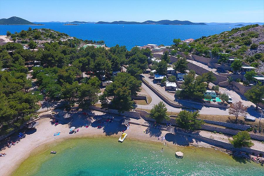Camping Oaza Mira bij Drage (Zadar)