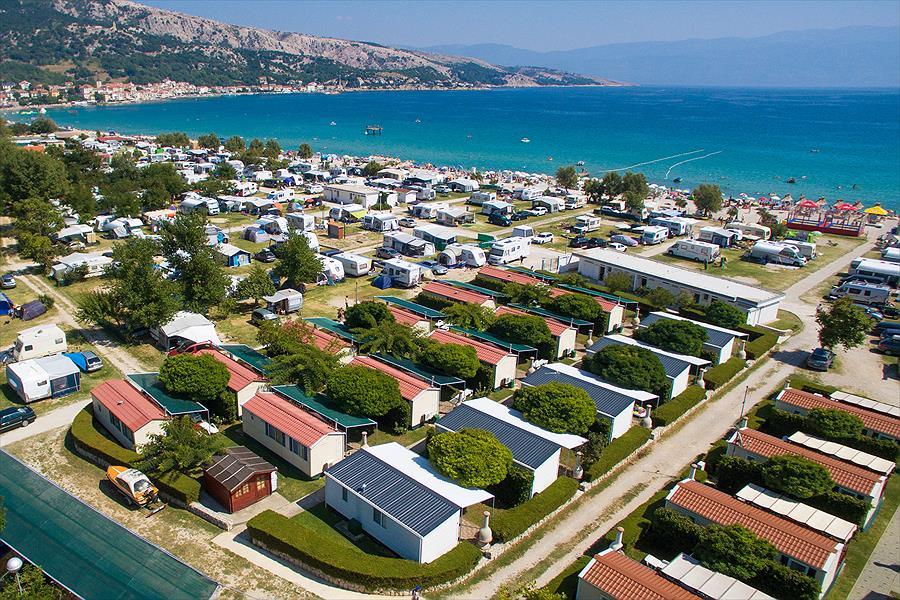 Baška Beach Camping Resort bij Baška (Primorje-Gorski Kotar)