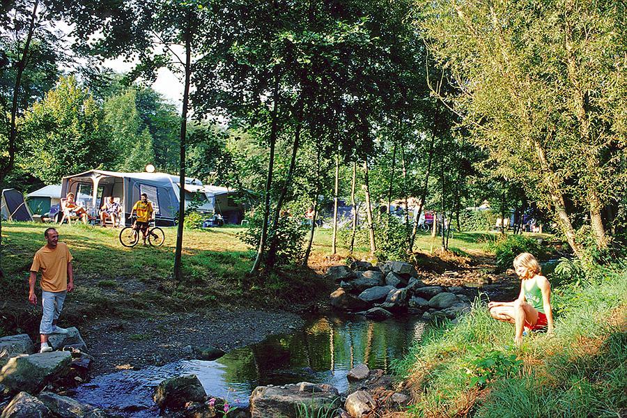 Camping Campéole Le Giessen bij Bassemberg (Bas-Rhin)