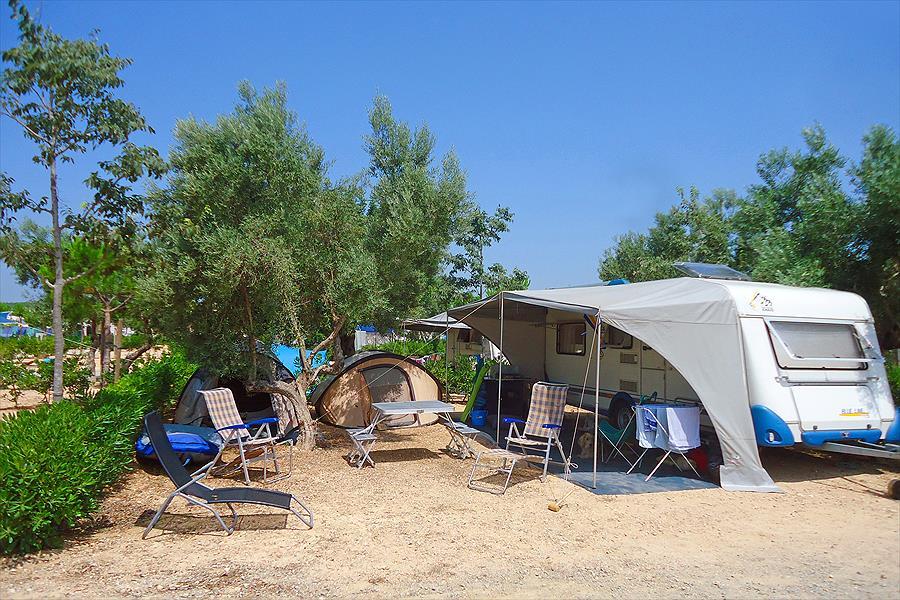 Camping Ametlla bij l'Ametlla de Mar (Tarragona)