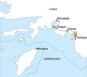 Route fietsen door Turkije